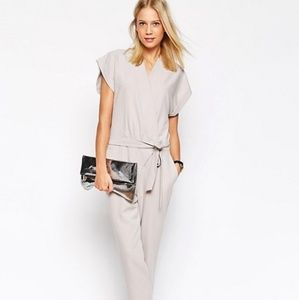 🆕 ASOS Jumpsuit With Tie Waist And Short Sleeves